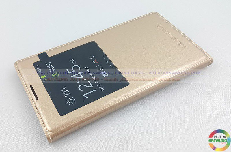 Bao da S View Note 3 màu vàng gold