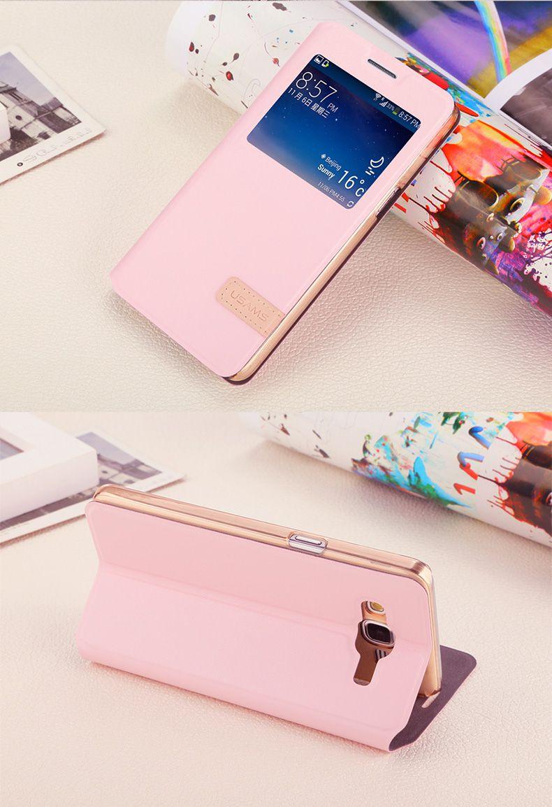 Bao da Galaxy A7 hiệu Usams màu hồng