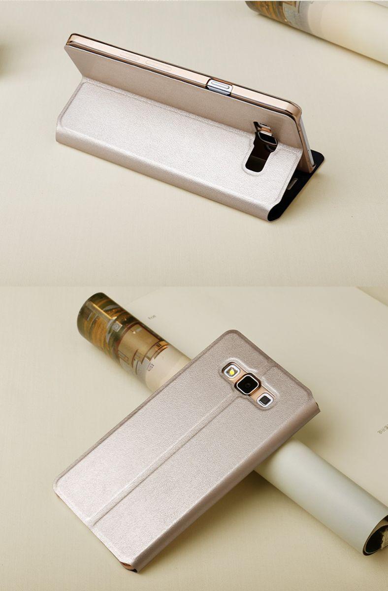Bao da Galaxy A7 hiệu Usams màu sâm panh