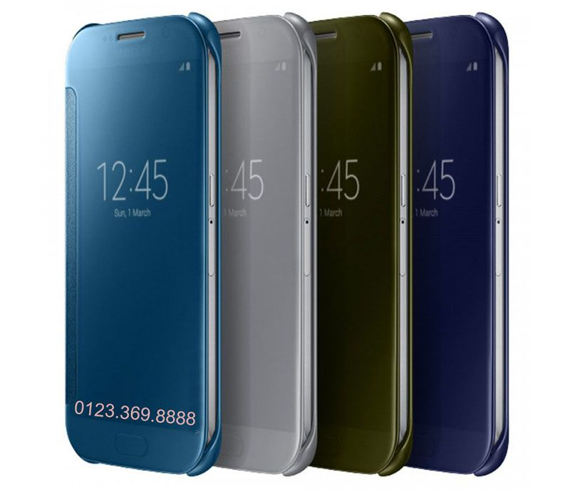 Bao da Clear View cover Galaxy S6 với 4 màu rất đẹp