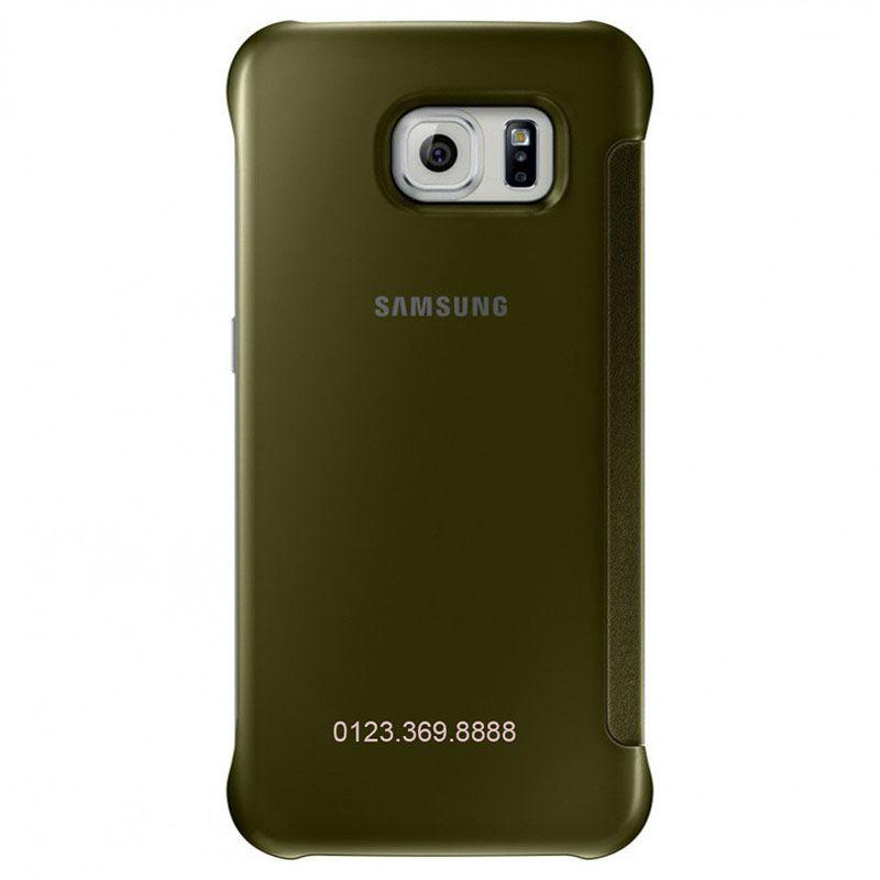 Bao da Clear View cover Galaxy S6 mặt sau