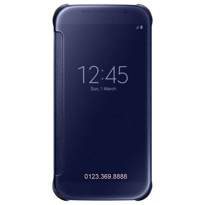Bao da Clear View cover Galaxy S6 màu xanh tím