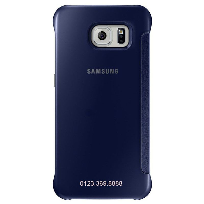 Bao da Clear View cover Galaxy S6 màu xanh tím than