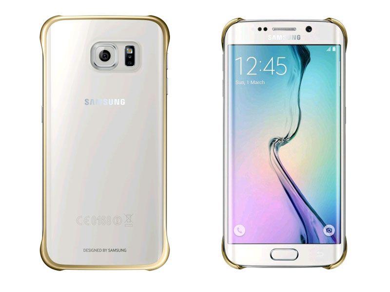 Ốp lưng Clear cover Samsung Galaxy S6 EDGE màu vàng
