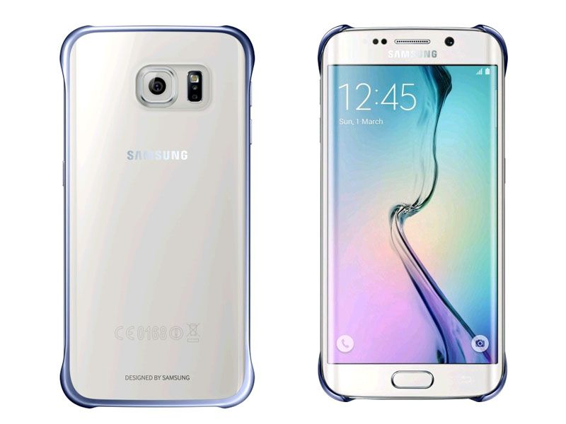Ốp lưng Clear cover Samsung Galaxy S6 EDGE màu xanh