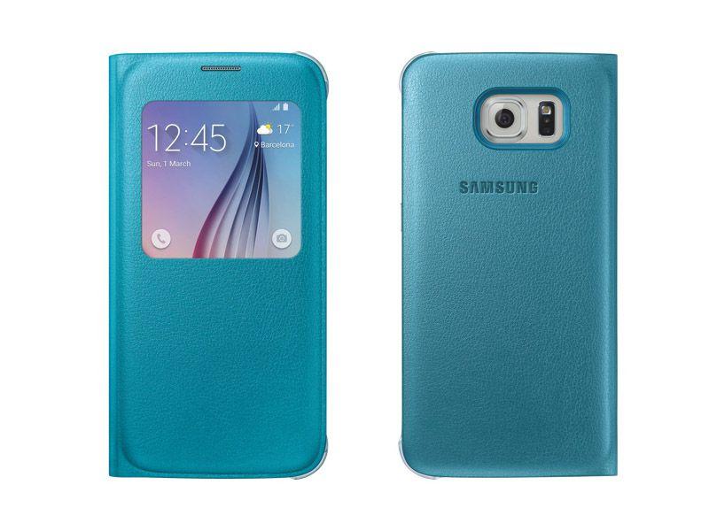 Bao da S View chính hãng Galaxy S6 màu xanh