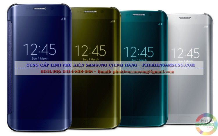 Bao da Clear View Cover cho Galaxy S6 Edge chính hãng với nhiều màu sắc sang trọng