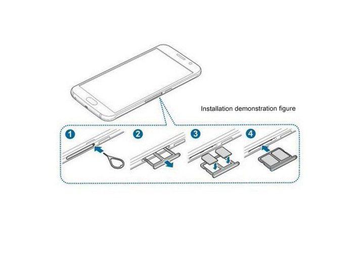 Khay sim Galaxy S6 2 sim chính hãng
