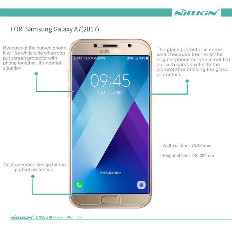 Kính cường lực Galaxy A7 2017 hiệu Nillkin H+ Pro