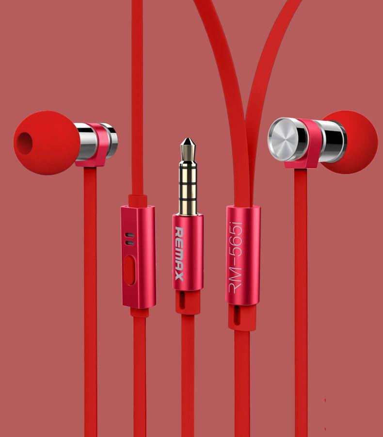 Tai nghe chính hãng Remax Rm565i màu đỏ