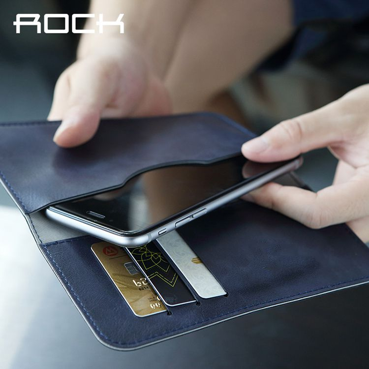 Bao da đa năng dạng ví Galaxy S7 Edge hiệu Rock thiết kế tiện lợi