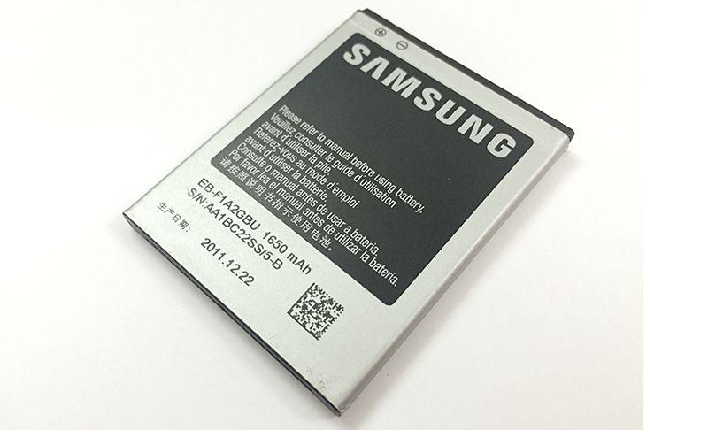 Dung lượng pin Galaxy S2 chính hãng là 1650mAh