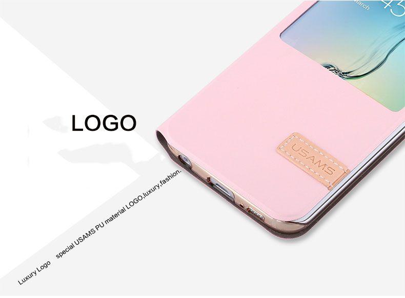Bao da Sview Samsung S6 Edge hiệu Usams chính hãng