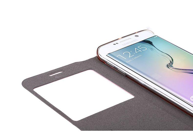 Bao da Sview Samsung Galaxy S6 Edge hiệu Usams chính hãng