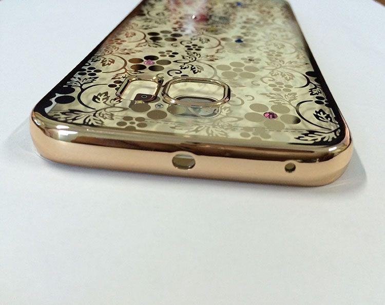Ốp lưng Samsung Galaxy S6 Edge hiệu Meephone loại hoa văn
