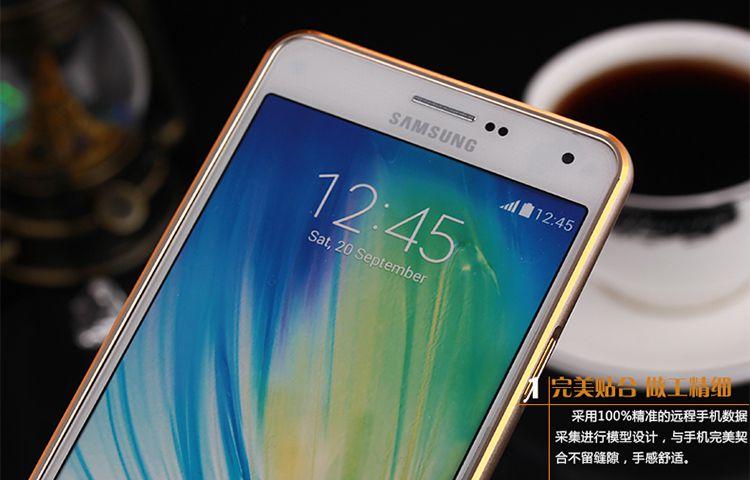 Ốp viền nhôm chỉ vàng Samsung Galaxy J7 chính hãng