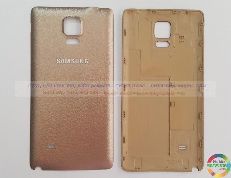 Nắp lưng Samsung Galaxy Note 4 vàng sâm panh