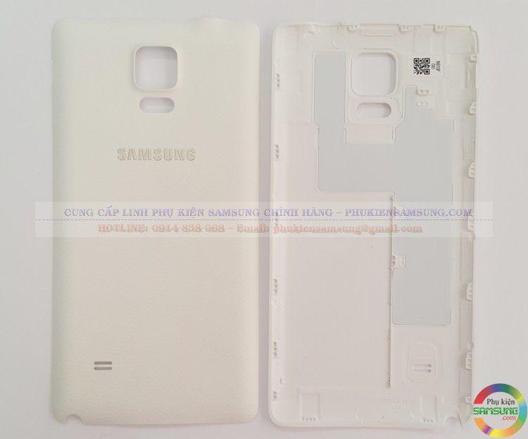Nắp lưng Note 4 màu trắng
