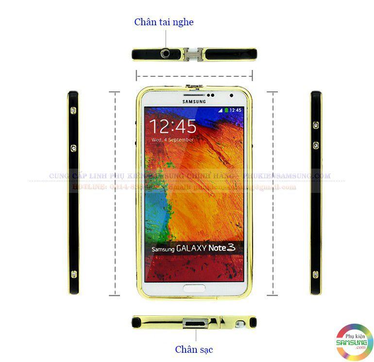 Ốp viền Hermes cho Galaxy Note 3 chính hãng