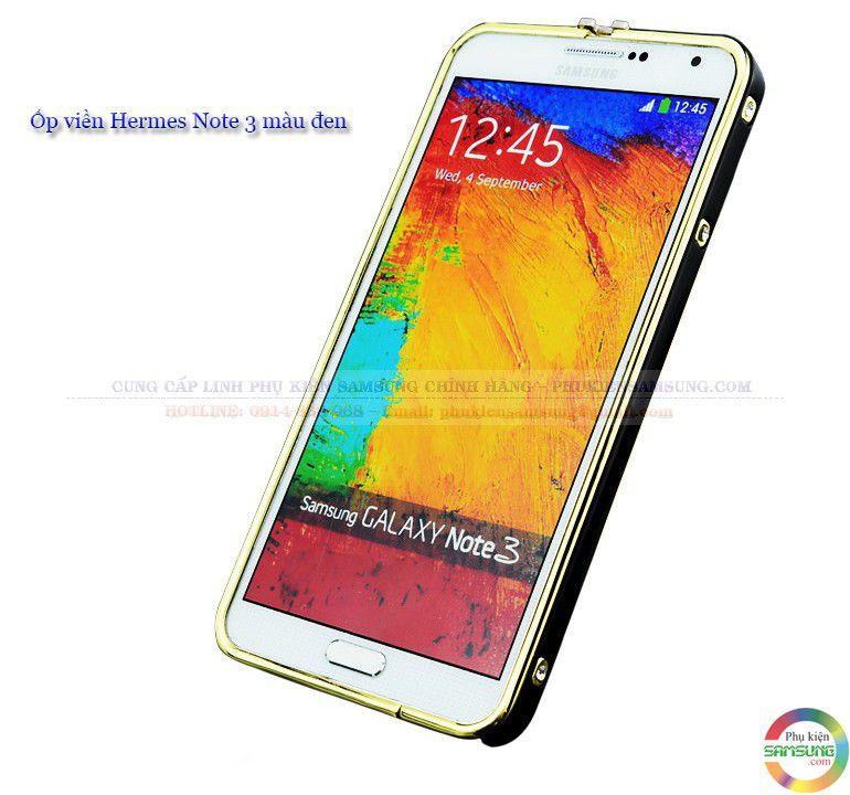 Ốp viền Hermes cho Galaxy Note 3 màu đen