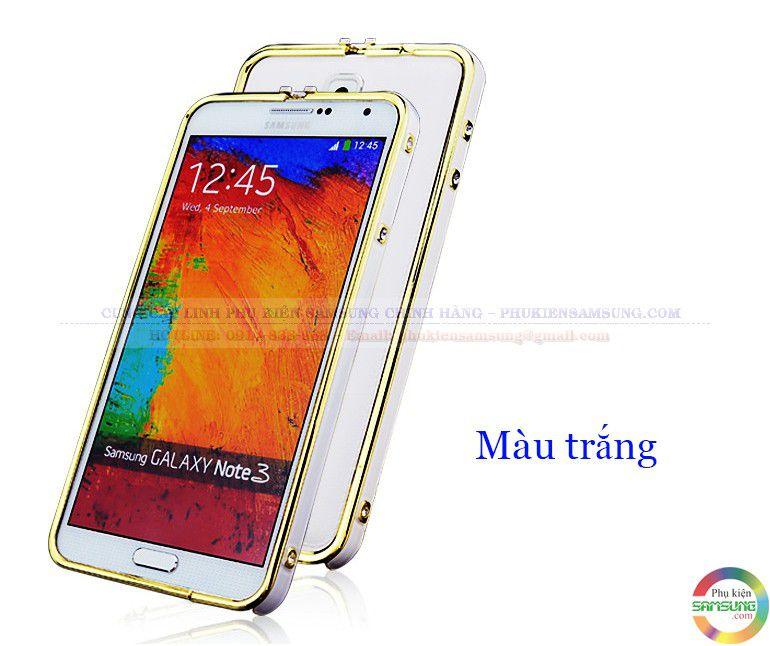 Ốp viền Hermes cho Galaxy Note 3 màu trắng