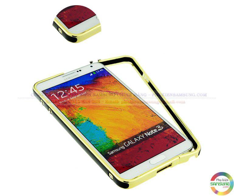 Ốp viền Hermes cho Galaxy Note 3 vàng đen
