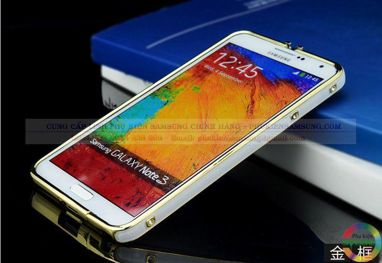 Ốp viền Hermes cho Galaxy Note 3 màu trắng vàng