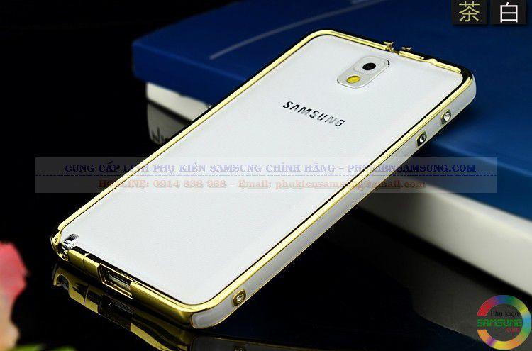 Ốp viền Hermes cho Galaxy Note 3 trắng vàng