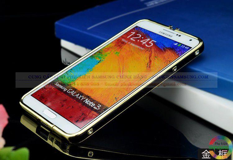 Ốp viền Hermes cho Galaxy Note 3 đen vàng