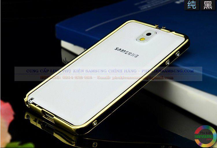 Ốp viền Hermes cho Galaxy Note 3 màu đen vàng