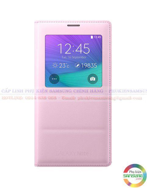 Bao da chính hãng Galaxy NOte 4 màu hồng