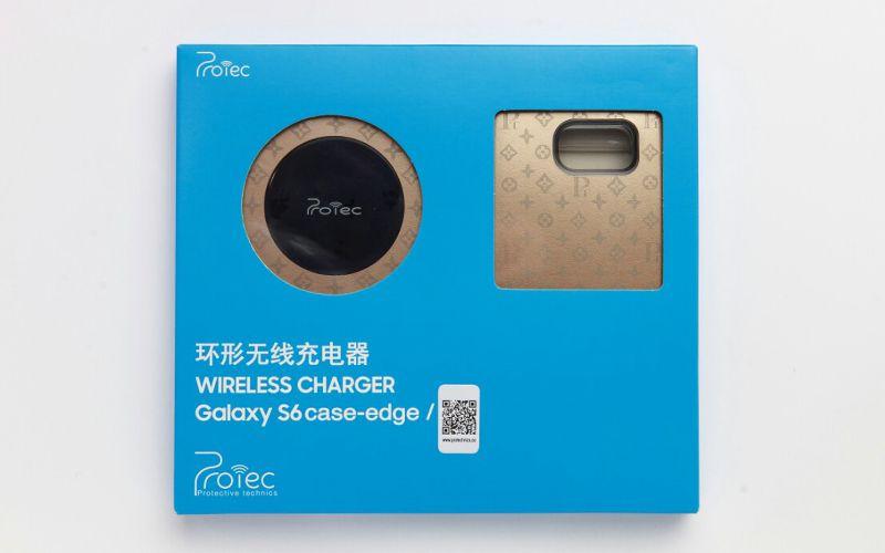 Bộ để sạc không dây kèm ốp lưng Galaxy S6 Edge hiệu Protechnics