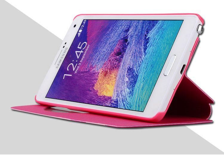 Bao da Baseus S View cho Galaxy Note 4 có thể dựng máy