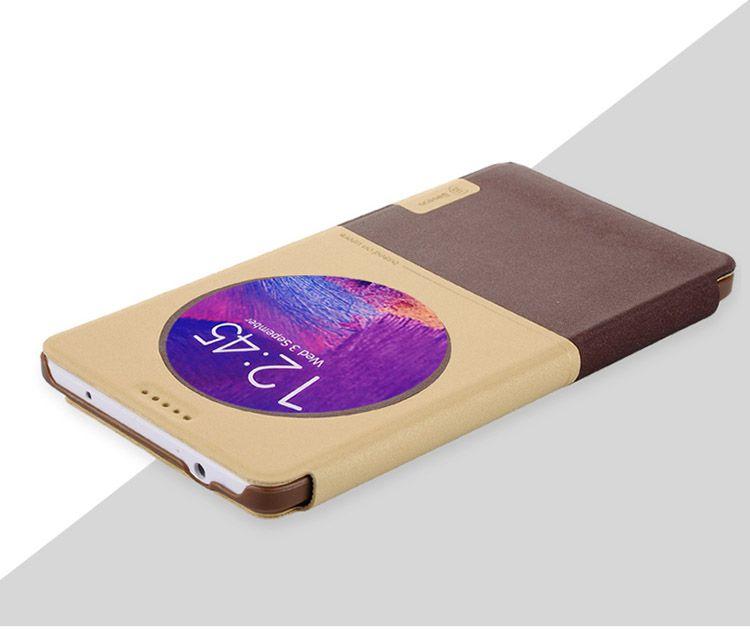 Bao da Baseus S View cho Galaxy Note 4 màu nâu