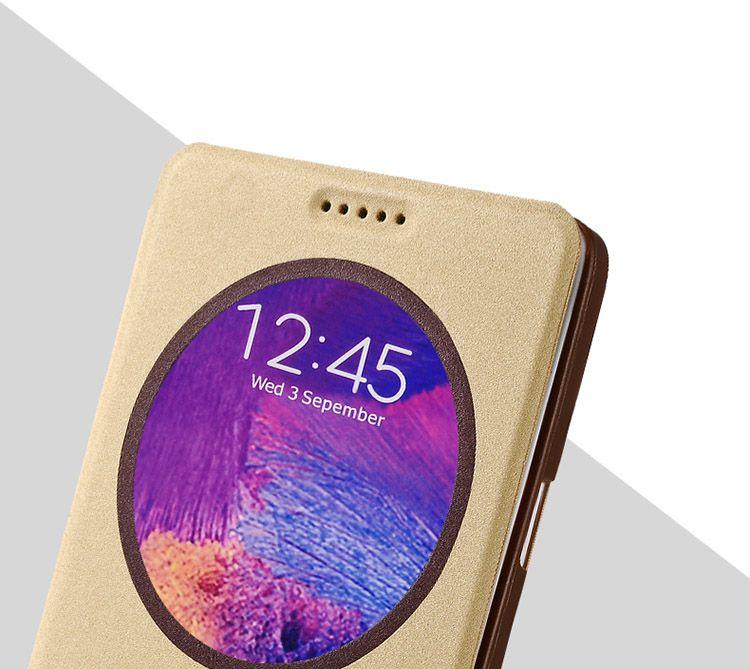 Bao da Baseus S View cho Galaxy Note 4 cửa số tròn