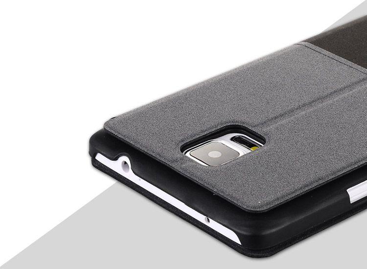 Bao da Baseus S View cho Galaxy Note 4 bảo vệ camera