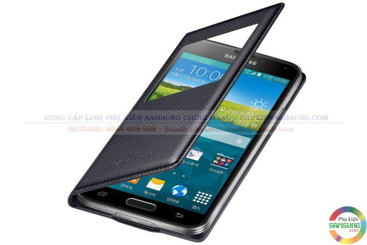 Bao da S VIew Samsung S5 chấm bi