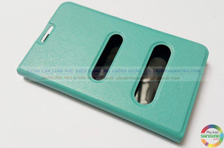 Bao da dạng ví Note 1 màu xanh