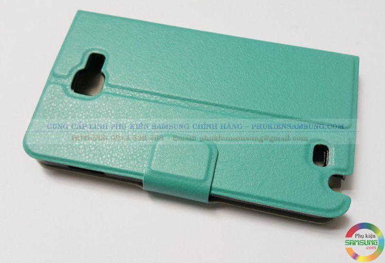 Bao da cho Galaxy Note 1 màu xanh