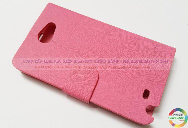 Bao da note 1 màu hồng dạng S View cover