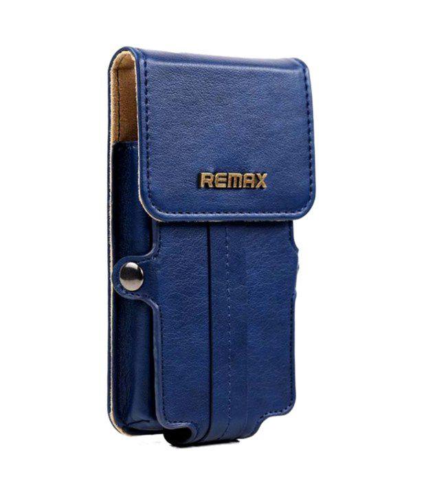Bao da remax cho Samsung GAlaxy Note 4 màu xanh đen