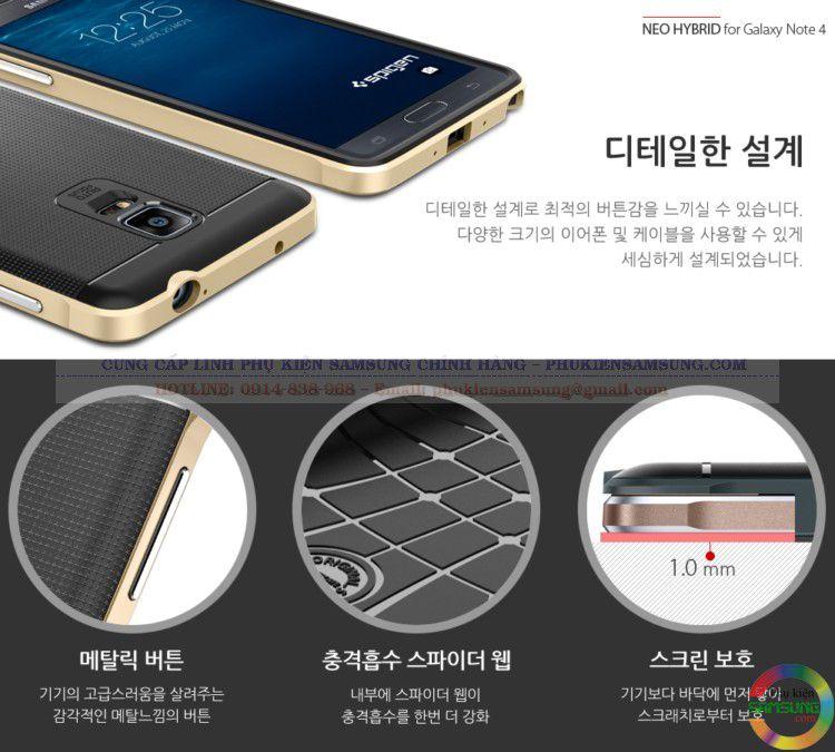 Ốp lưng Spigen Neo Hybrid cho Galaxy Note 4