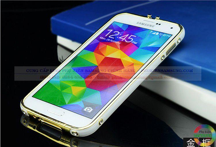Ốp viền Galaxy S5 Hermes vàng trắng