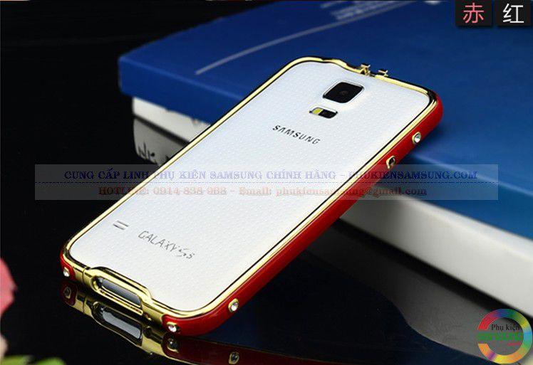 Ốp viền Galaxy S5 Hermes trắng - đỏ