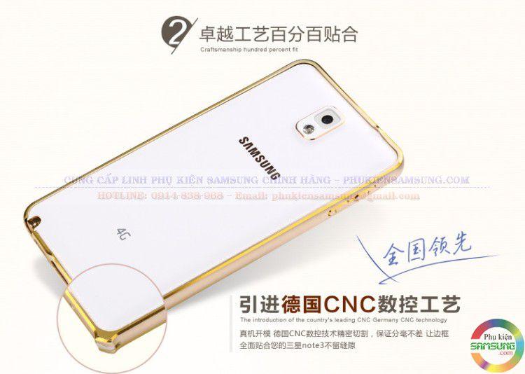 Ốp viền chỉ vàng Galaxy Note 3