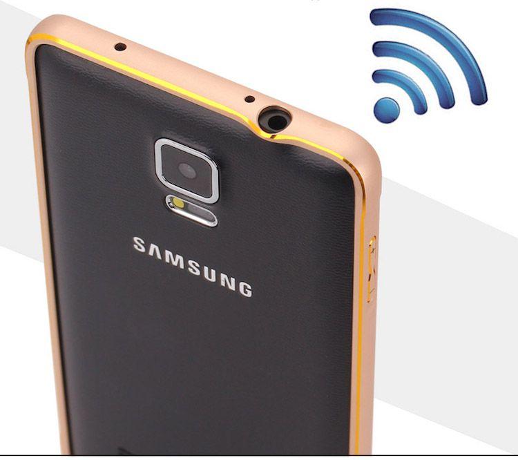 Khi sử dụng ốp viền, Samsung Note 4 của bạn không bị giảm tín hiện sóng mà thậm trí còn được kích sóng thêm