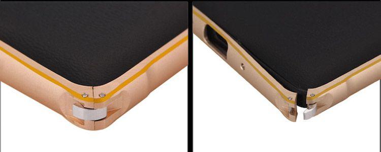 Ốp viền nhôm chỉ vàng Galaxy Note 4