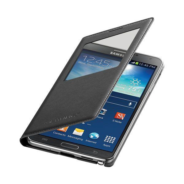 Bao da S View cover cho Galaxy Note 3 màu đen