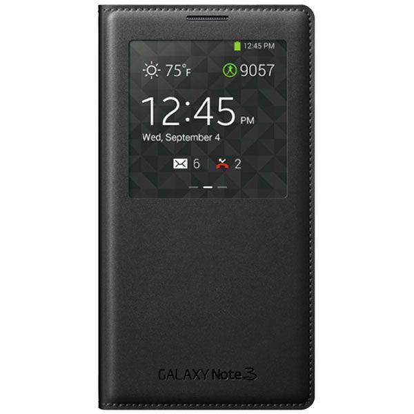 Mặt trước bao da S VIew cover cho Samsung Galaxy Note 3