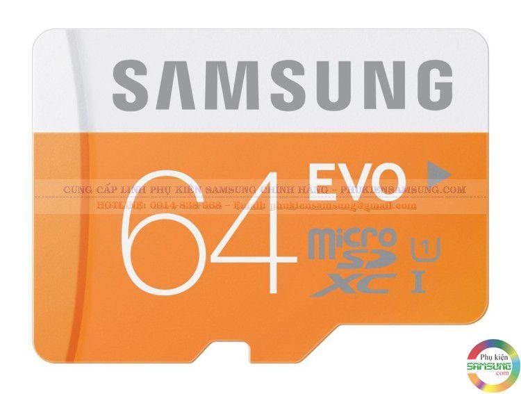 Thẻ nhớ Samsung 64Gb Evo chính hãng